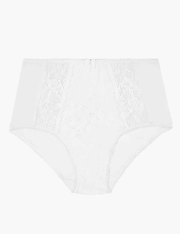 02c6750abef6 Jacquard Lace High Rise Full Briefs. 3 For 2. M&S Collection