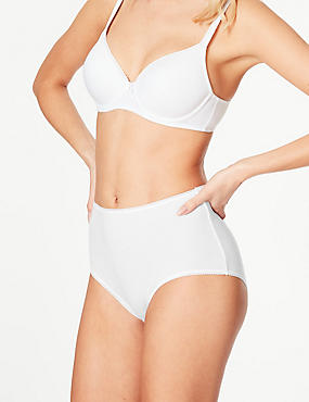 4 Pack Pure Cotton Midi Knickers