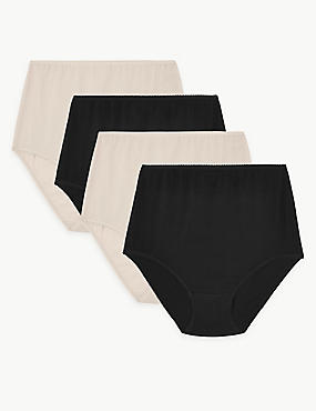 4 Pack Pure Cotton Full Briefs