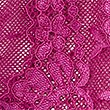 Spot Mesh & Cut Out Lace Brazilian Knickers, BRIGHT MAGENTA, swatch