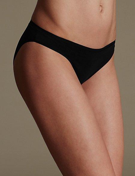 5 Pack No VPL Microfibre Low Rise Bikini Knickers