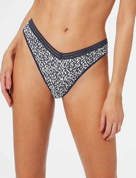 5 Pack Modal Blend Animal Print Miami Knickers