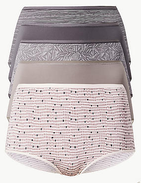 5 Pack Microfibre Full Brief Knickers