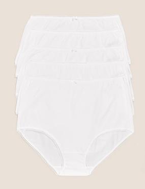5pk Cotton Lycra® Full Briefs