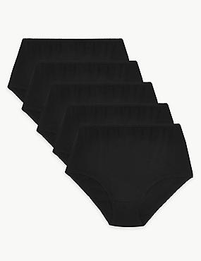 5 Pack Cotton Rich Full Briefs with New & Improved Fabric
