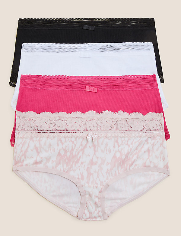 4pk Cotton High Rise Knicker Shorts