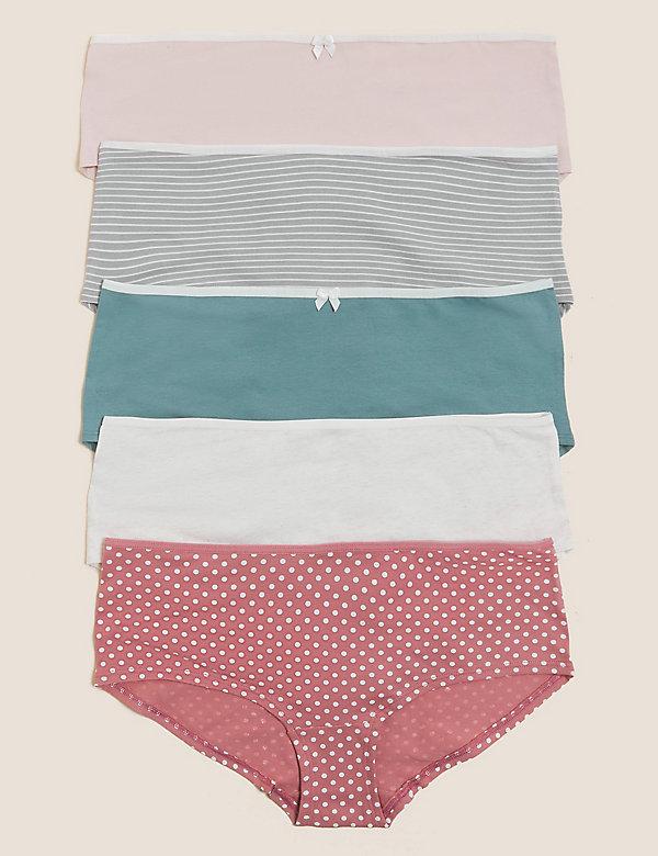 5pk Cotton Lycra® Knicker Shorts