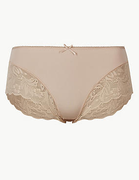 Lace High Rise Midi Knickers