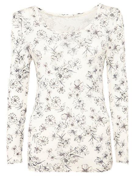 Heatgen™ Thermal Long Sleeve Floral Top