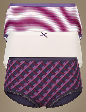 3 Pack Cotton Rich Midi Knickers