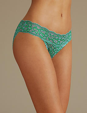 Floral Lace Bikini Knickers