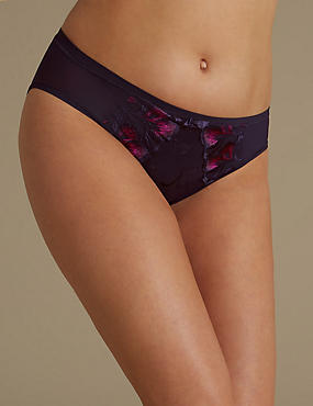 Olivia Embroidered High Leg Knickers