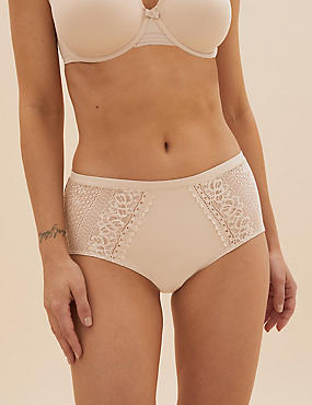 Sumptuously Soft™ Lace Trim High Rise Knickers