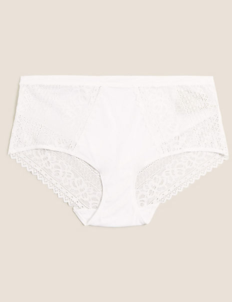 Sumptuously Soft™ Lace Trim Midi Briefs