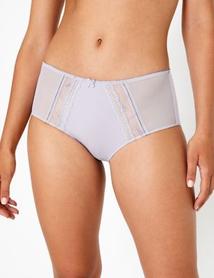 Knickers m/&s Collection 2 Pack brodé Brésilien Slips Taille 8