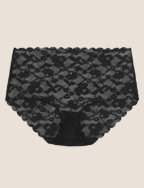 No VPL Freecut Lace Midi Knickers