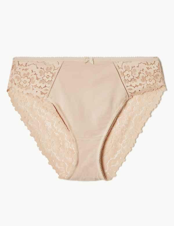 bb271c8ca0bd Cool Comfort™ Cotton Blend High Leg Knickers
