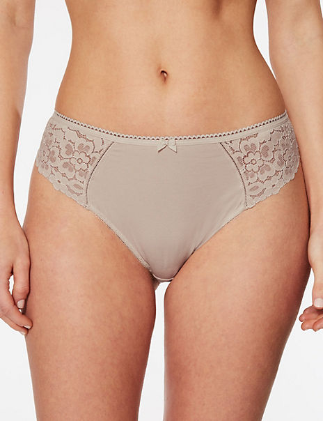 Cool Comfort™ Cotton Blend High Leg Knickers