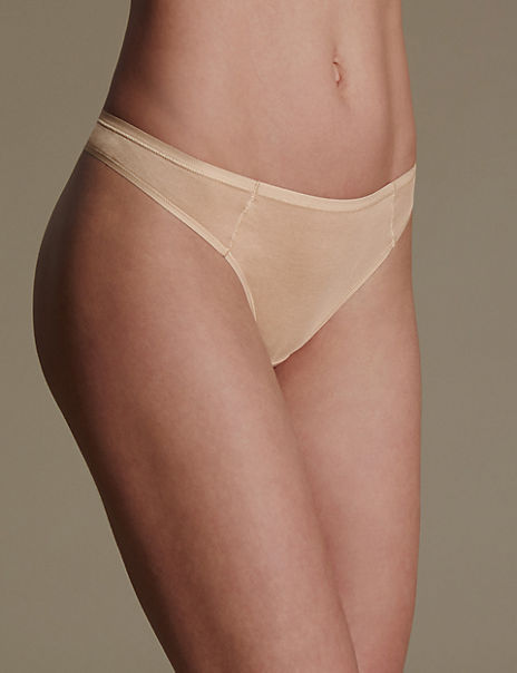 5 Pack Supima® Cotton & Modal No VPL Thongs