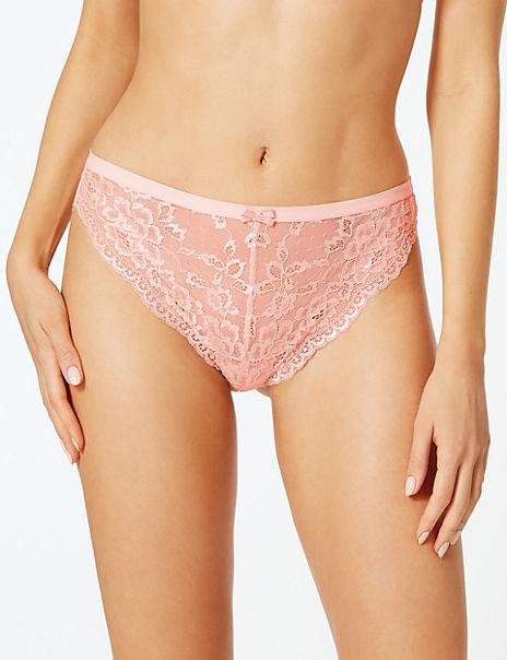 Butterfly Lace High Leg Knickers