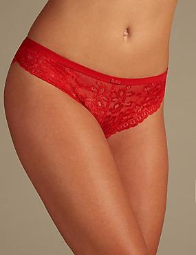 Glitter Lace Brazilian Knickers