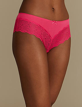 Cotton Blend No VPL Brazilian Knickers