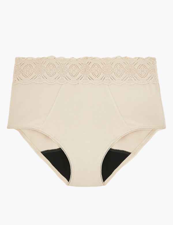 House Of Satin Full Brief Knickers Nude Size Uk 18 Big Pants £15.00 Vintage Sale