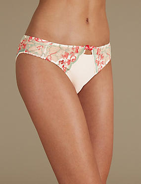 Floral Lace Brazilian Knickers