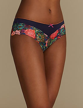 Floral Print Brazilian Knickers