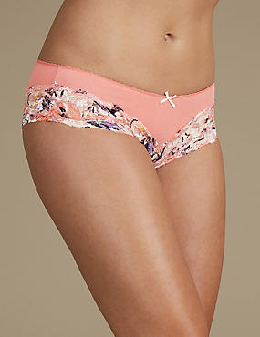 Cotton Blend Brazilian Knickers