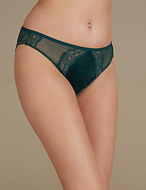 Velvet Lace High Leg knickers