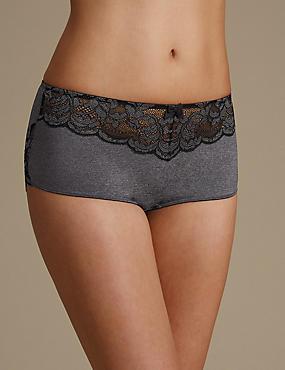 Ornate Lace High Rise Shorts