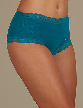High Glitter Lace Comfort Short Knickers