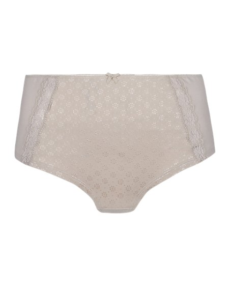 Lace Detail High Waist Shorts