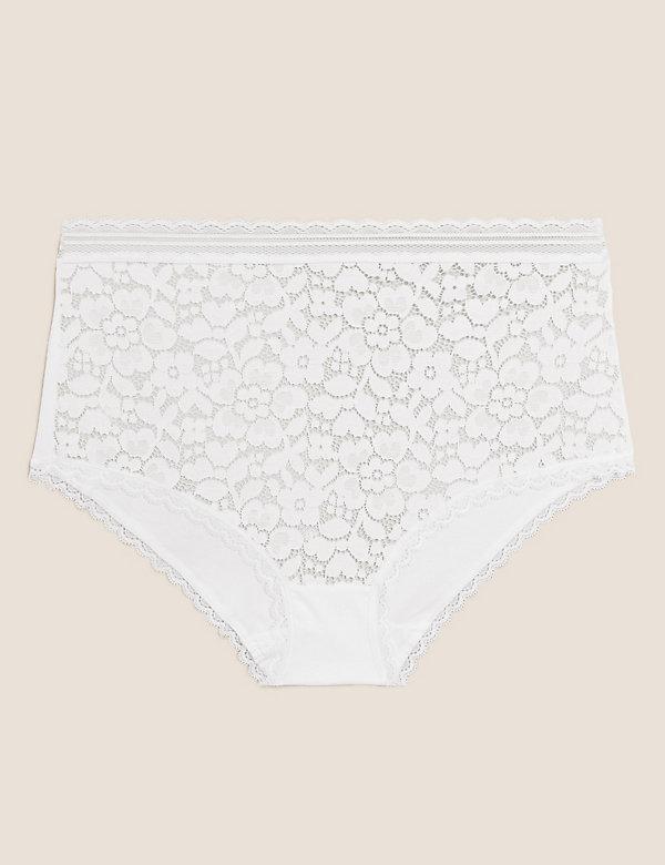 Cotton & Lace Full Briefs