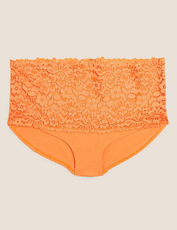 Cotton &  Lace High Rise Shorts