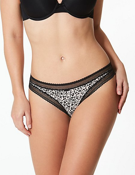Printed Bikini Knickers
