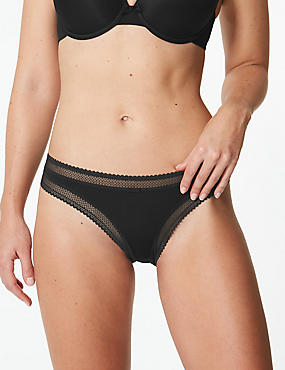 Lace Trim Bikini Knickers