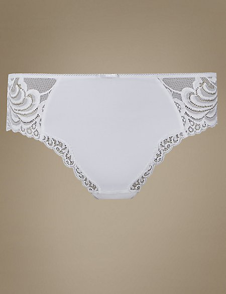 High Rise Lace Thong