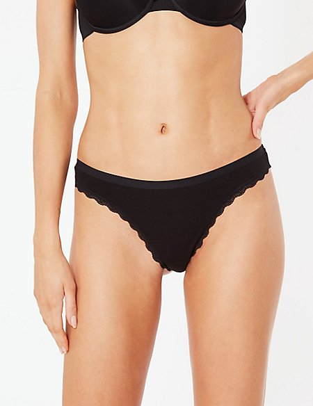 3 Pack Cotton Rich Thongs