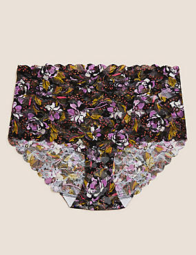 High Rise Floral Knicker Shorts