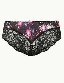 Louisa Lace Printed Brazilian Knickers