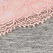 Miami-Slip aus Baumwollmischgewebe mit Spitze, GRAU MELIERT, swatch