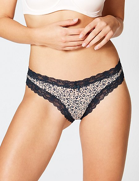03996078bf Cotton Blend Lace Miami Knickers