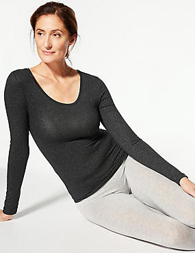 Heatgen™ Sparkle Thermal Long Sleeve Top