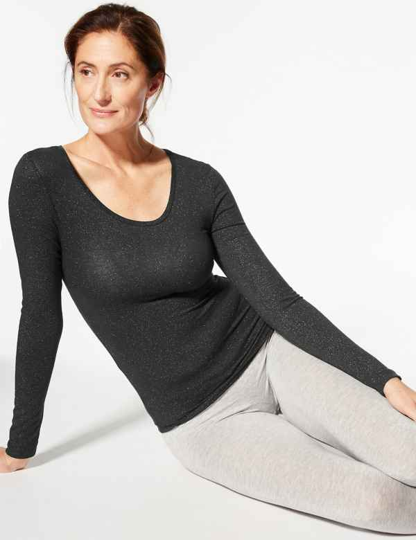 03ce577c1b Heatgen™ Sparkle Thermal Long Sleeve Top