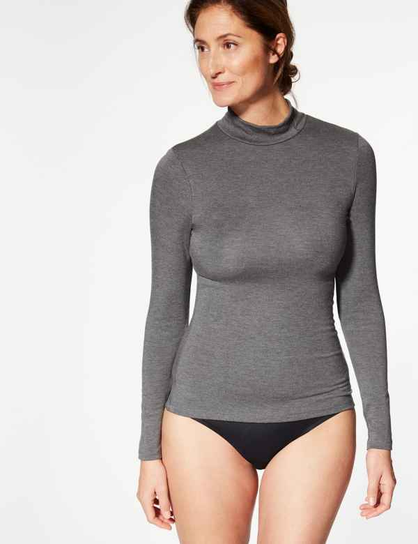 f4e1f5df78 Heatgen Plus™ Thermal Long Sleeve Turtle Neck Top