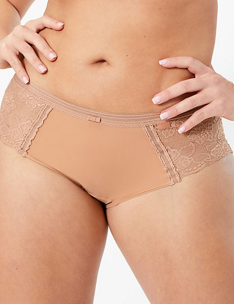 Body™ No VPL Low Rise Sparkle Lace Shorts