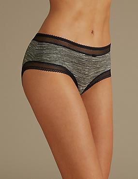 Lace Trim Low Rise Shorts