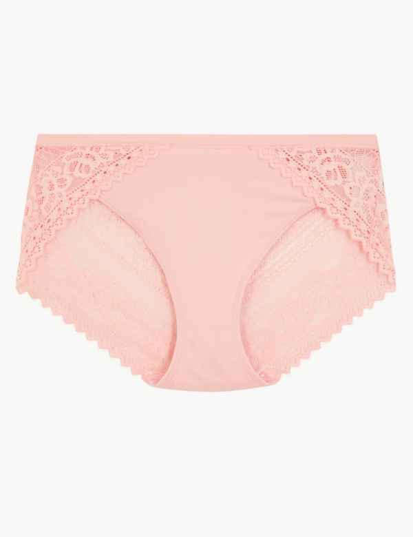 0efb0f3239b Sumptuously Soft High Leg Lace Knickers